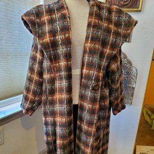 Vintage wool plaid coat